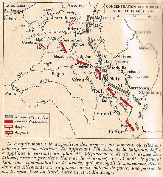 concentration des troupes début août 1914