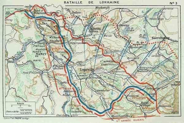 Situation des 1ère et 2ème armées le 23 août après la retraite, Général Niox, La grande guerre (site artois1418.skyrock)