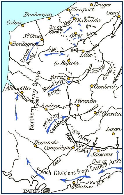 L'armée de Castelnau dans la « Course à la mer » (site memorial1418cavalerie)