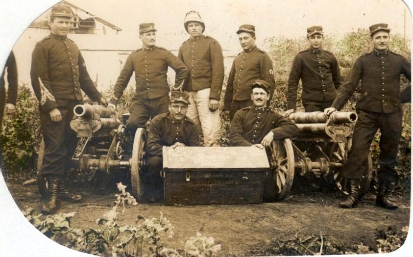 3e Groupe d'Artillerie de Campagne d'Afrique (Constantine), 4e Batterie de Montagne. La photo est écrite de Casablanca (Maroc-Occidental), le 25 mars 1912 (site pages14-18)