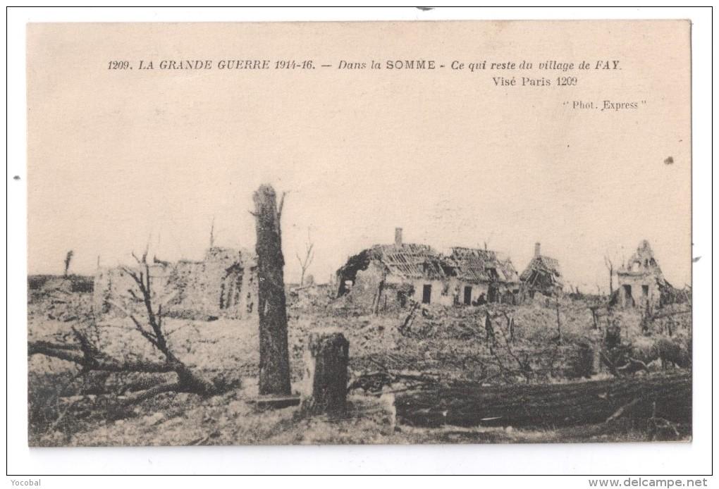 Ce qui reste du village de Faÿ, dans la Somme (site Delcampe)