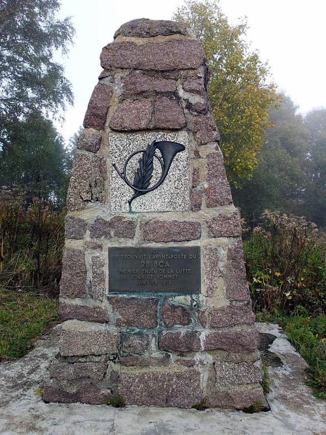 Monument du 28ème Bataillon de chasseurs Alpins, Hartmannswillerkopf (Vieil-Armand), Alsace