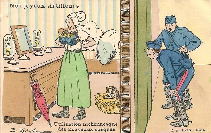 Carte postale envoyée le 1er janvier 1917 à Passy par l'artilleur Félix Gruz (Doc. famille Devillaz, Passy)