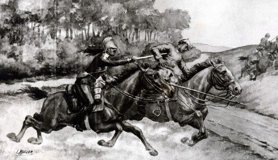 Charge de cavalerie en 1914 (site fondationmarechaldelattre)