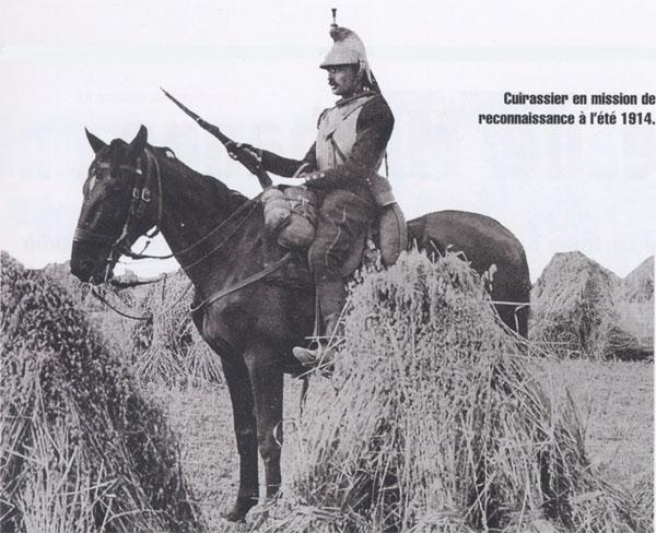 Cuirassier en mission de reconnaissance à l'été 1914 (site lucile-herve-tournois)