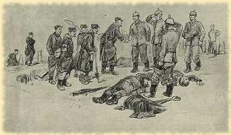 Trêve de Noël 1914. Dessin (site bloginy)
