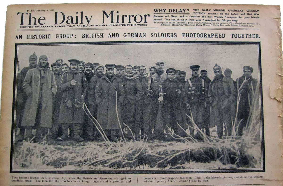Fraternisation (The Daily Mirror, Friday 5 janvier 1915)