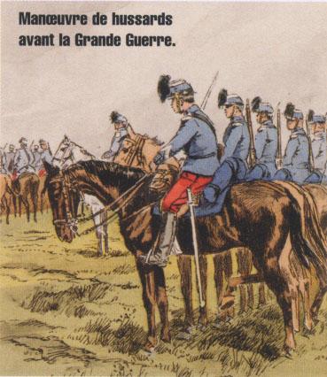 Manœuvre de hussards avant la Grande Guerre (Internet)