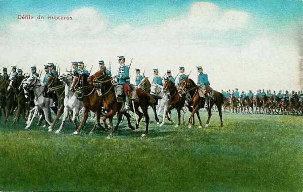 Défilé de hussards (site sambre-marne-yser.be)