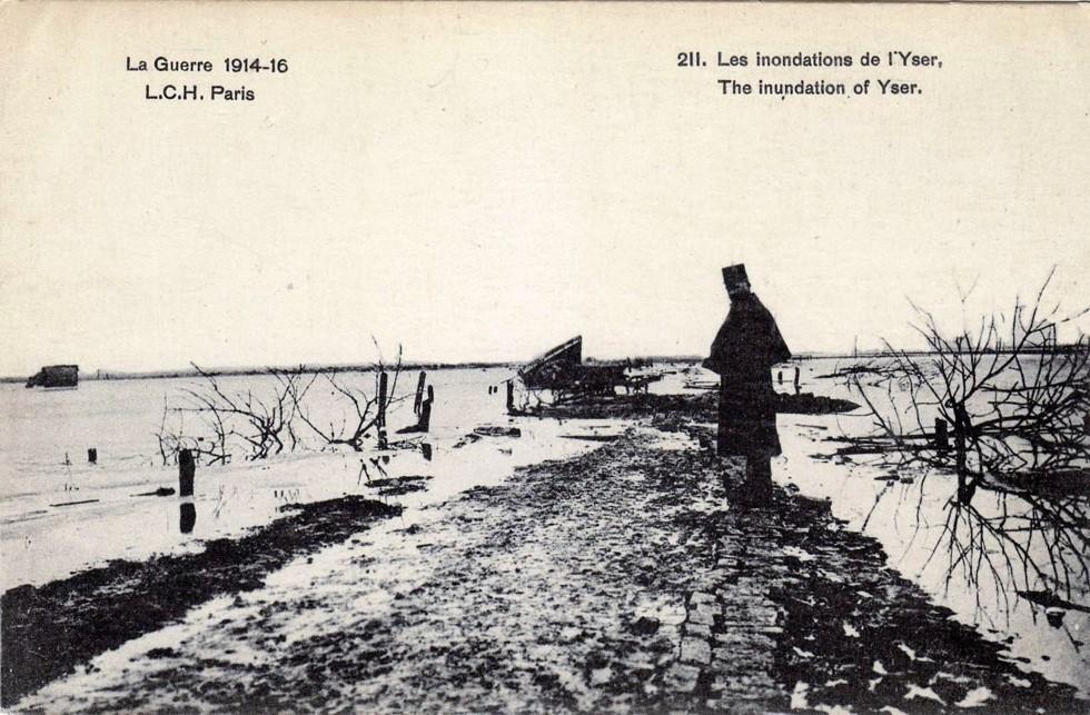 Inondations de la plaine de l'Yser (site rtbf.be)