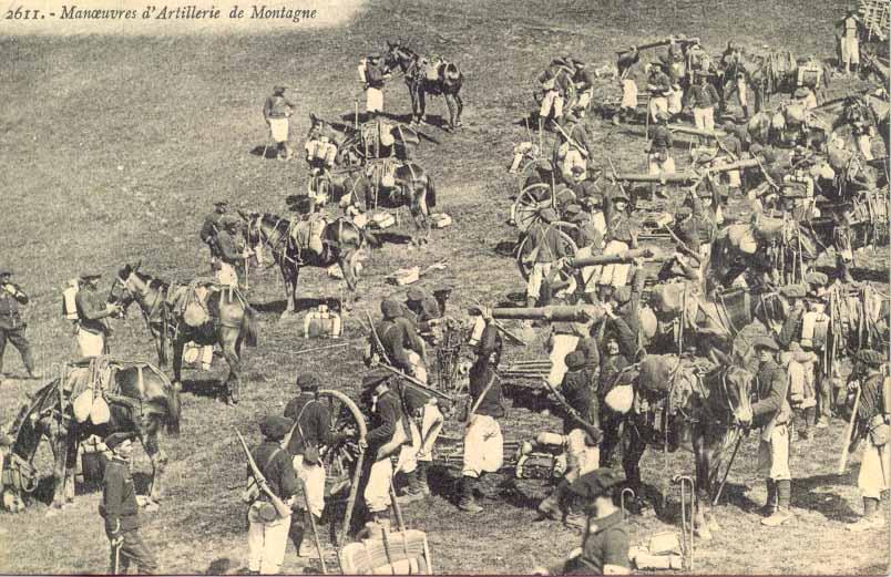 Manœuvres d'artillerie de montagne (site guysylvain)