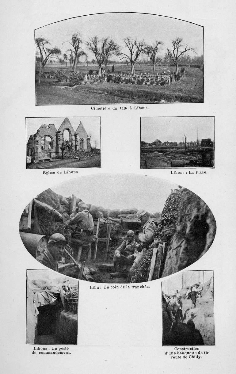 2ème planche de photos sur le secteur de Lihons (site souvenirs du 140ème RI)