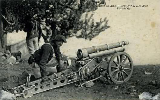 Artillerie de montagne, pièce de 65 (site histoiredumonde)