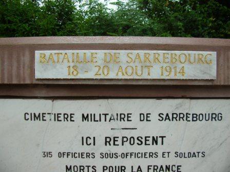 Sarrebourg - cimetière militaire de Bühl - stèle française (Site sambre-marne-yser.be)