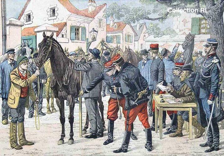 La réquisition des chevaux (site documentation.equestre, art. le cheval d'armes)