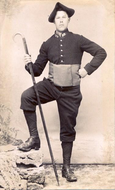 Un soldat du 99e RIA (Site alpins.fr)