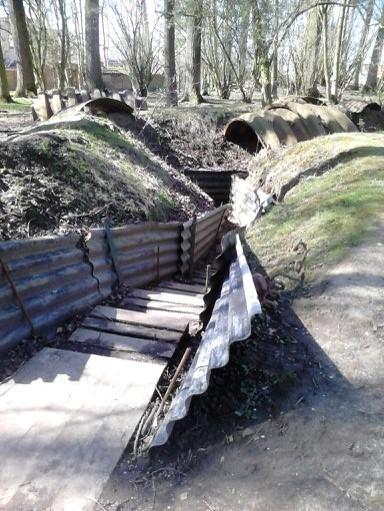 Vue actuelle des tranchées d'Ypres (doc. Catherine Soole)