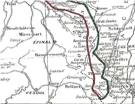 Alsace et Vosges ; le front en juin 1915