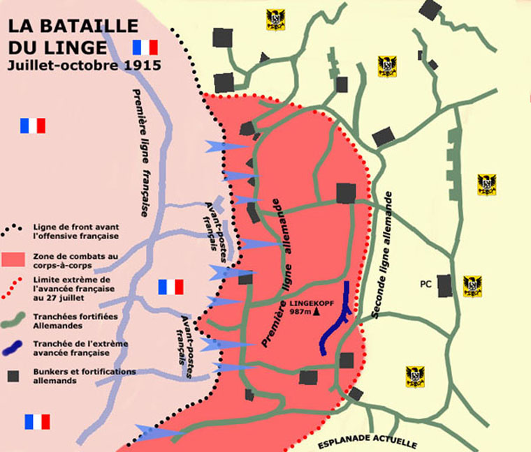 La bataille du Linge, juillet-octobre 1915 (Site encyclopedie.beditions.fr)