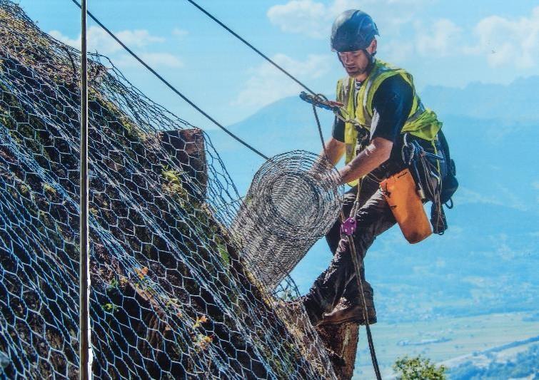 Panneau d'information EDF à Marlioz : zoom sur les travaux (cliché Bernard Théry, août 2014)
