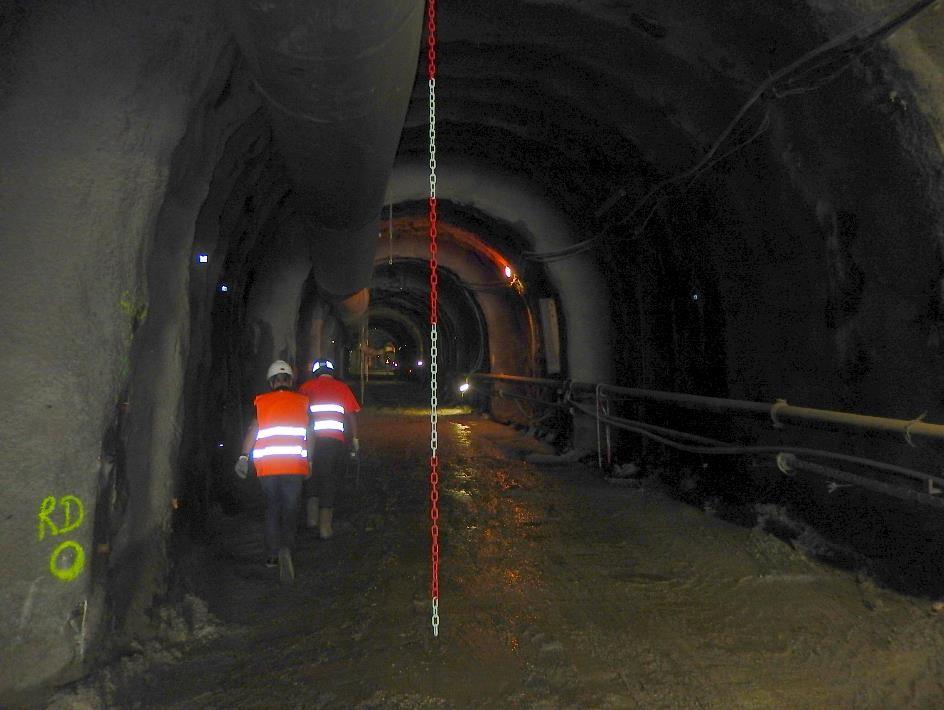Les 380 m de la galerie subhorizontale sont creusés (cliché Bernard Théry, 26 juin 2015)