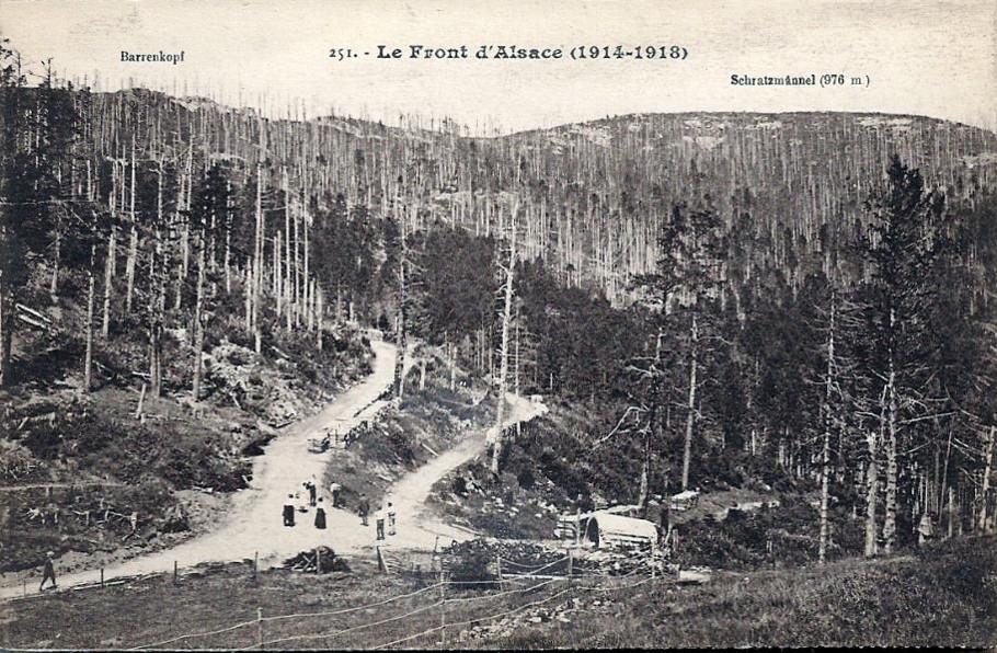 Le Barrenkopf, en haut à gauche (site thebluelinefrontier)