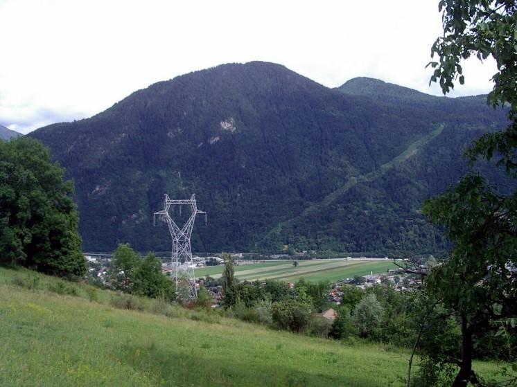 Tête Noire avant la création de la piste forestière EDF, Passy, 13 juin 2011 (cliché Bernard Théry)