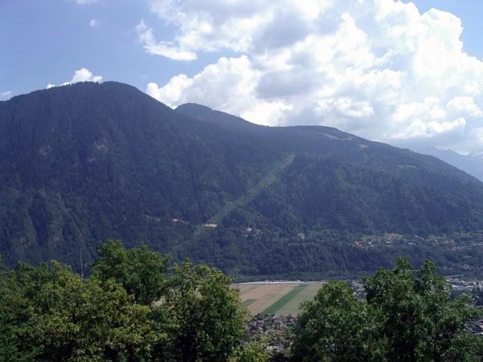 Avancée sur Tête Noire de la piste forestière EDF de Passy, 25 juillet 2012 (cliché Bernard Théry)