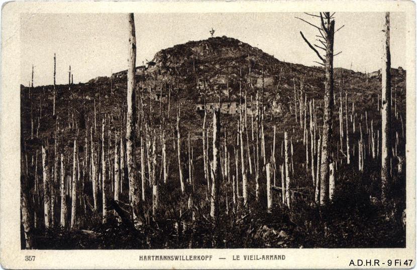 Hartmannswillerkopf-le Vieil Armand : sommet et croix (site front-vosges-14-18.eu)