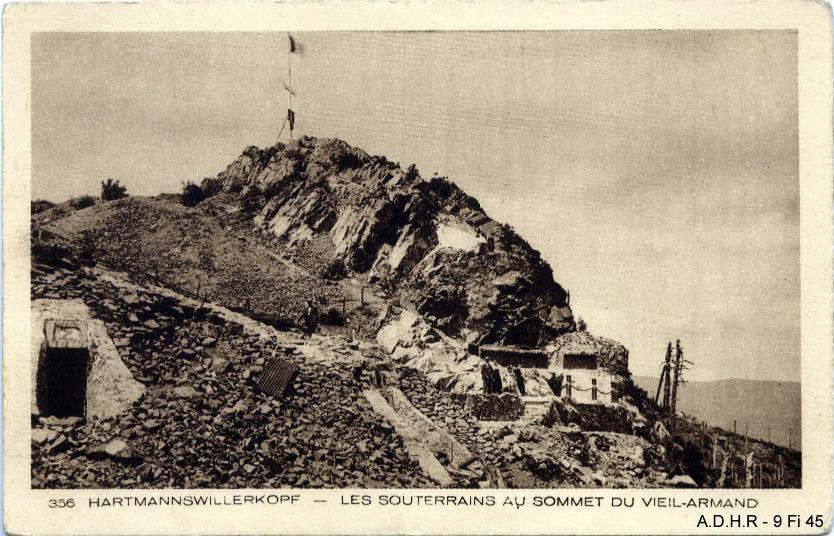 Les souterrains au sommet du Vieil Armand (site front-vosges-14-18.eu)