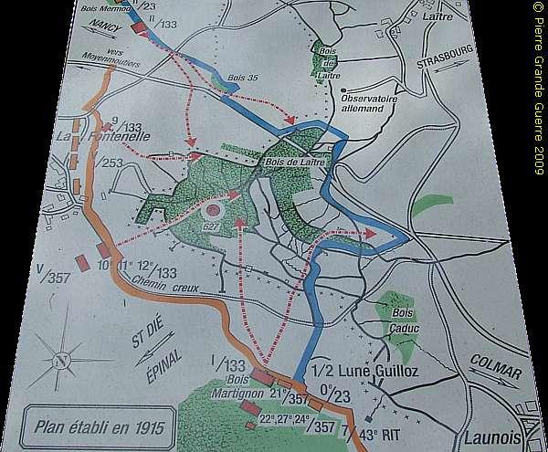 Carte de la cote 627 (site pierreswesternfront.punt.nl)