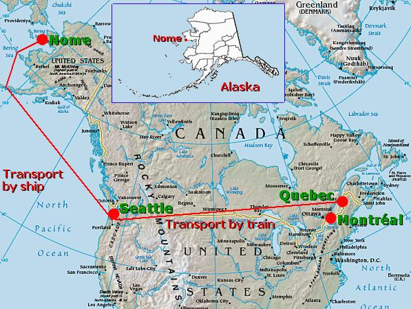 De Nome à Québec en passant par Seattle (site pierreswesternfront.punt.nl)