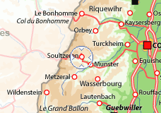 Situation géographique de Soultzeren (site vacances-location.net)