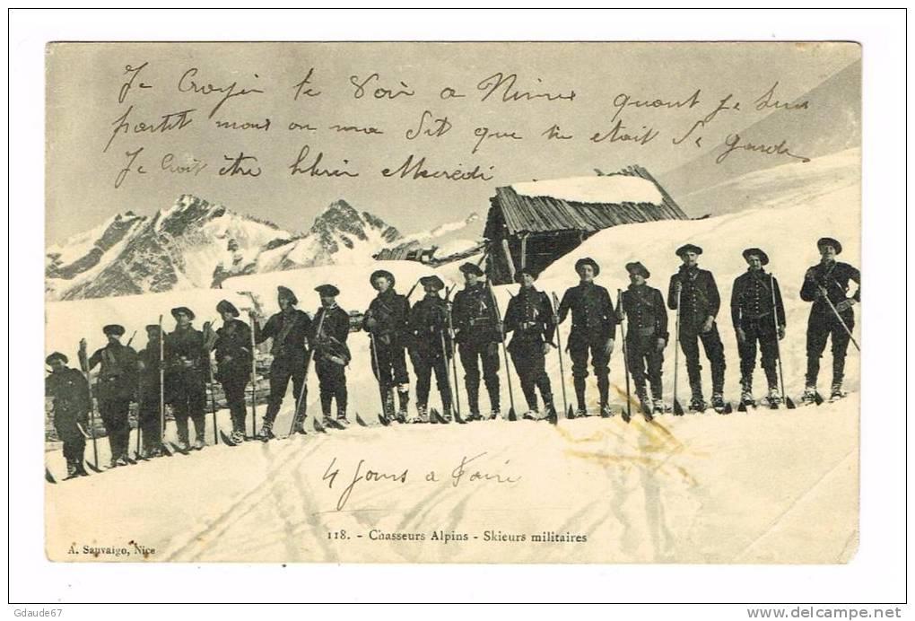 Chasseurs alpins, skieurs militaires (site Delcampe.net)