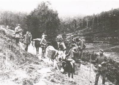 Début de l'évacuation de Soultzeren, mars 1915 (site dna.fr/edition-de-colmar)