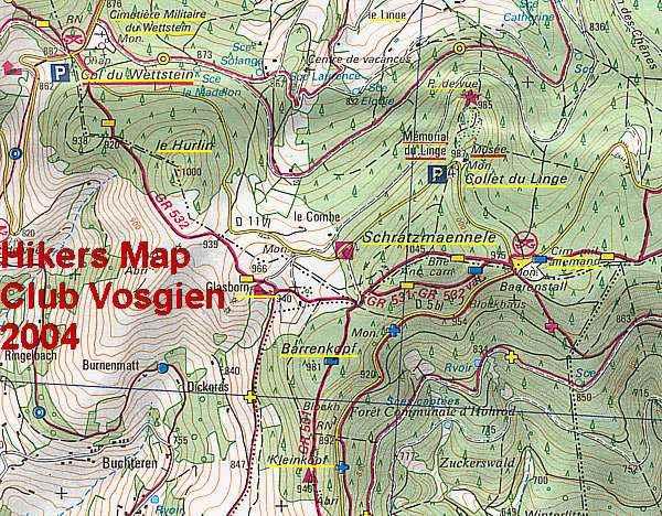 Carte de Barrenkopf et Schratzmännele (site pierreswesternfront.punt.nl)