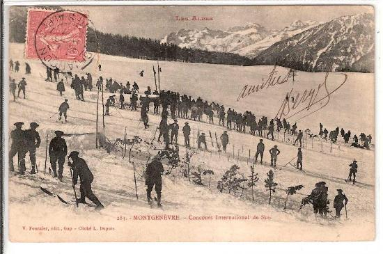 Montgenèvre, Concours International de ski (site france2wheels.com)