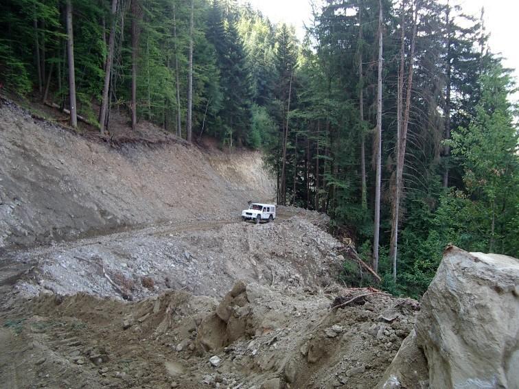 Création de la piste forestière EDF de Passy, août 2012