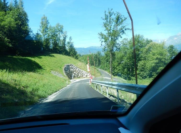 La piste forestière EDF de Passy aménagée, 26 juin 2015 (cliché Bernard Théry)