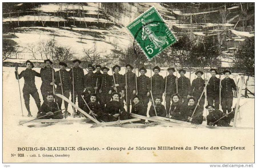 Bourg-St-Maurice, Savoie. Groupe de skieurs militaires du poste des Chapieux (site ledauphine.com)