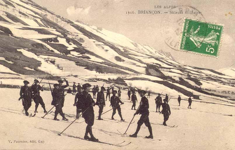 Skieurs militaires, Briançon (site guysylvain.perso.infonie.fr)