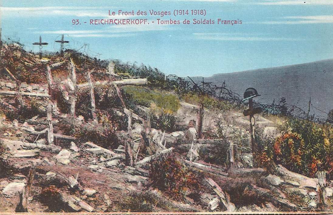 Tombes de soldats français au Reichackerkopf (site 1914-1918.invisionzone.com)