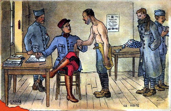 La visite, dessin de Gabard (site monumerique.aquitaine.fr)