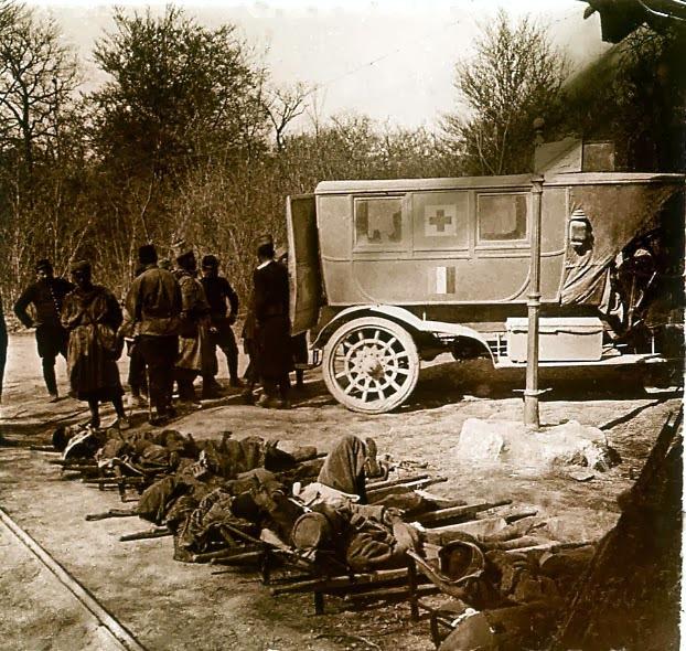 Ambulance à Calonne, Pas-de-Calais (site bac.d.free.fr)