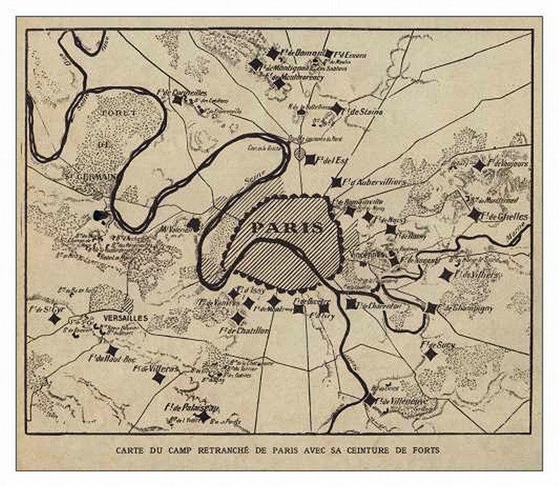 Camp retranché de Paris avec sa ceinture de forts (site ville-brasparts.forum-actf.net)