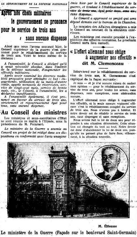 Presse : Le renforcement de la Défense nationale (Site 87dit.canalblog.com