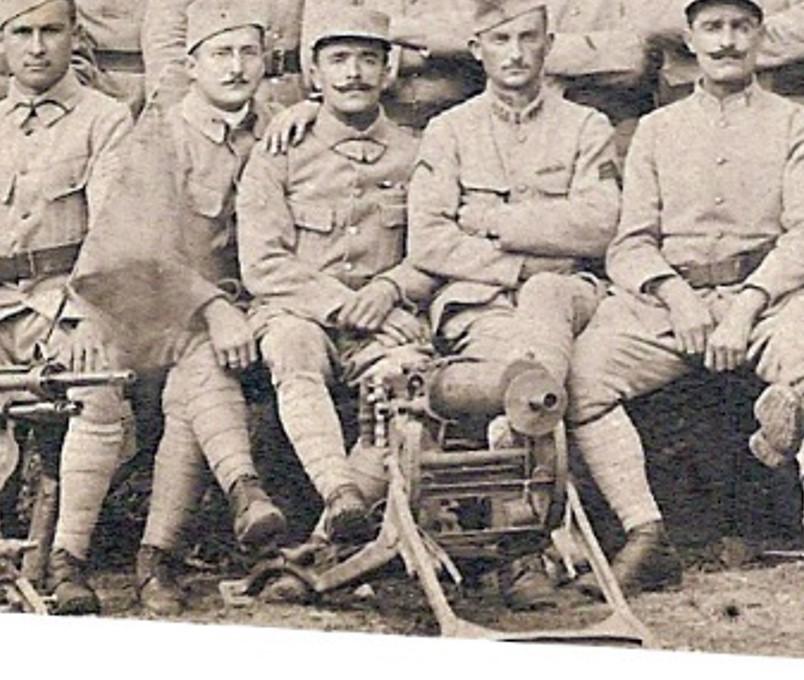 Carte envoyée par Pierre Perroud à ses parents un 15 octobre : mitrailleuse Maxim