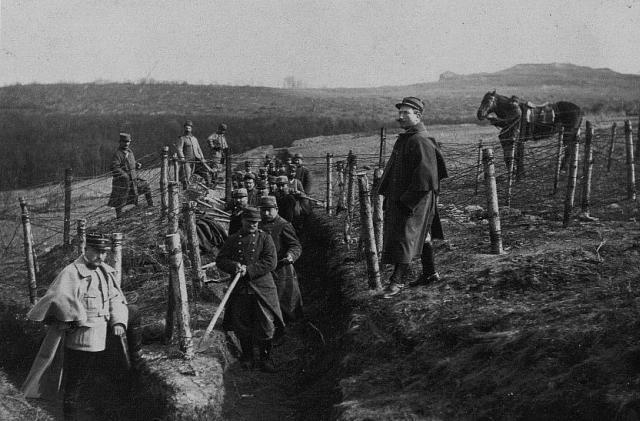 Travaux des Territoriaux du 39e RIT à Donoux en 1915 (JMO de la 14e compagnie du 39e RIT, page 17)