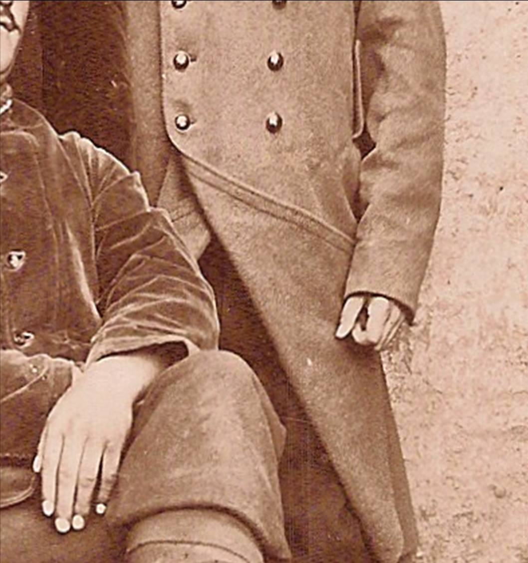 Carte envoyée le 30 mai 1915 à ses parents par Pierre Perroud, soldat au 106e RIT (Doc. Jean Perroud, archives familiales). Détail de la photo reproduite dans Vatusium n° 18, page 33