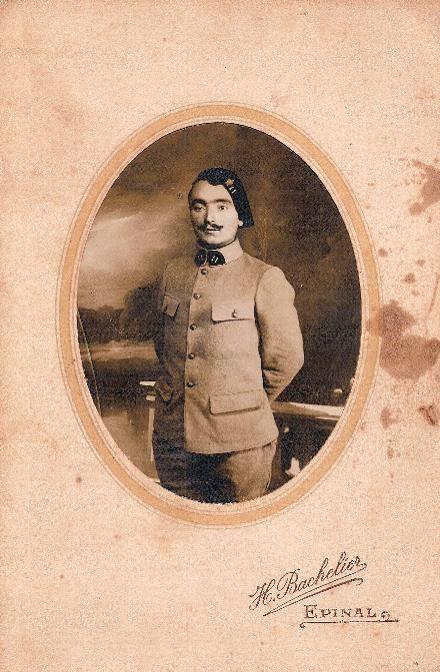 Pierre Perroud au 11e Génie (Doc. Jean Perroud, archives familiales)
